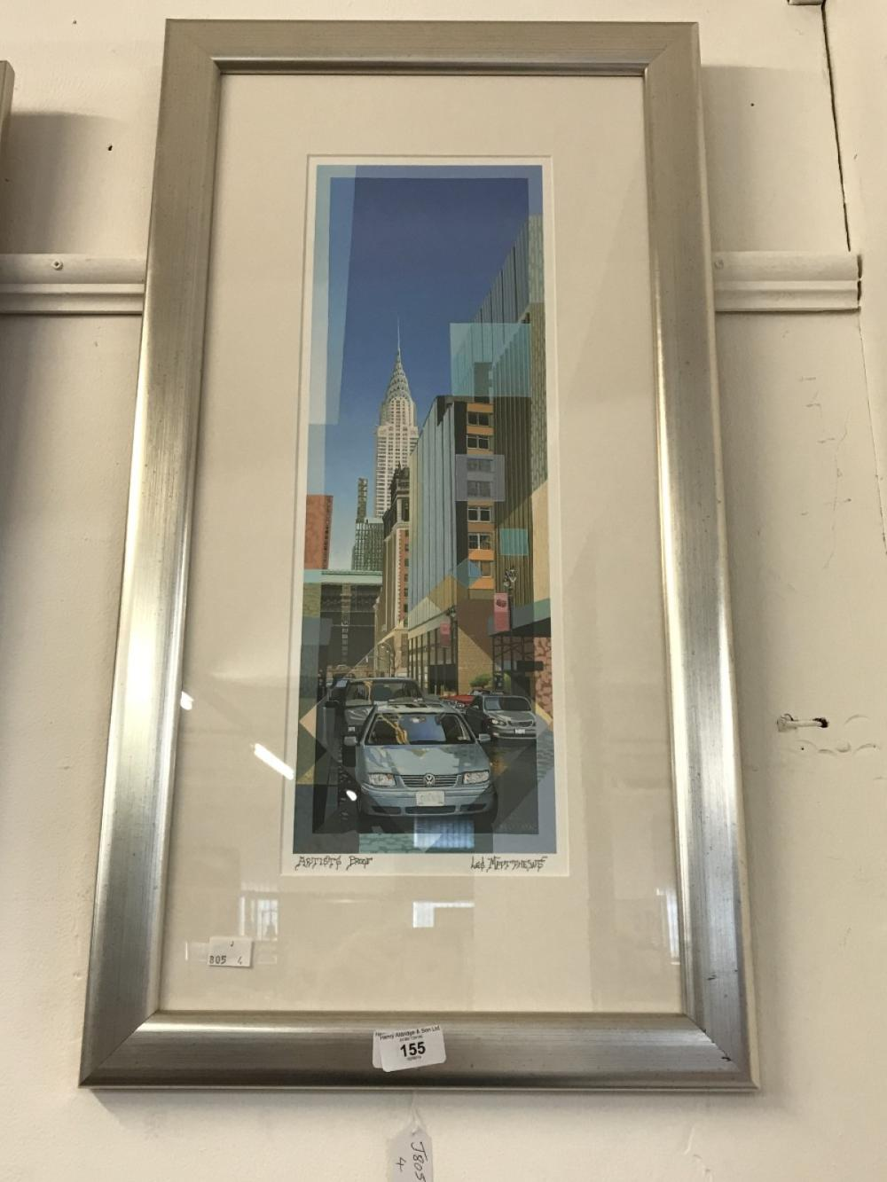 Les Matthew: 20th cent. Artists proof, limited edition print on paper of the Chrysler Building. Fram