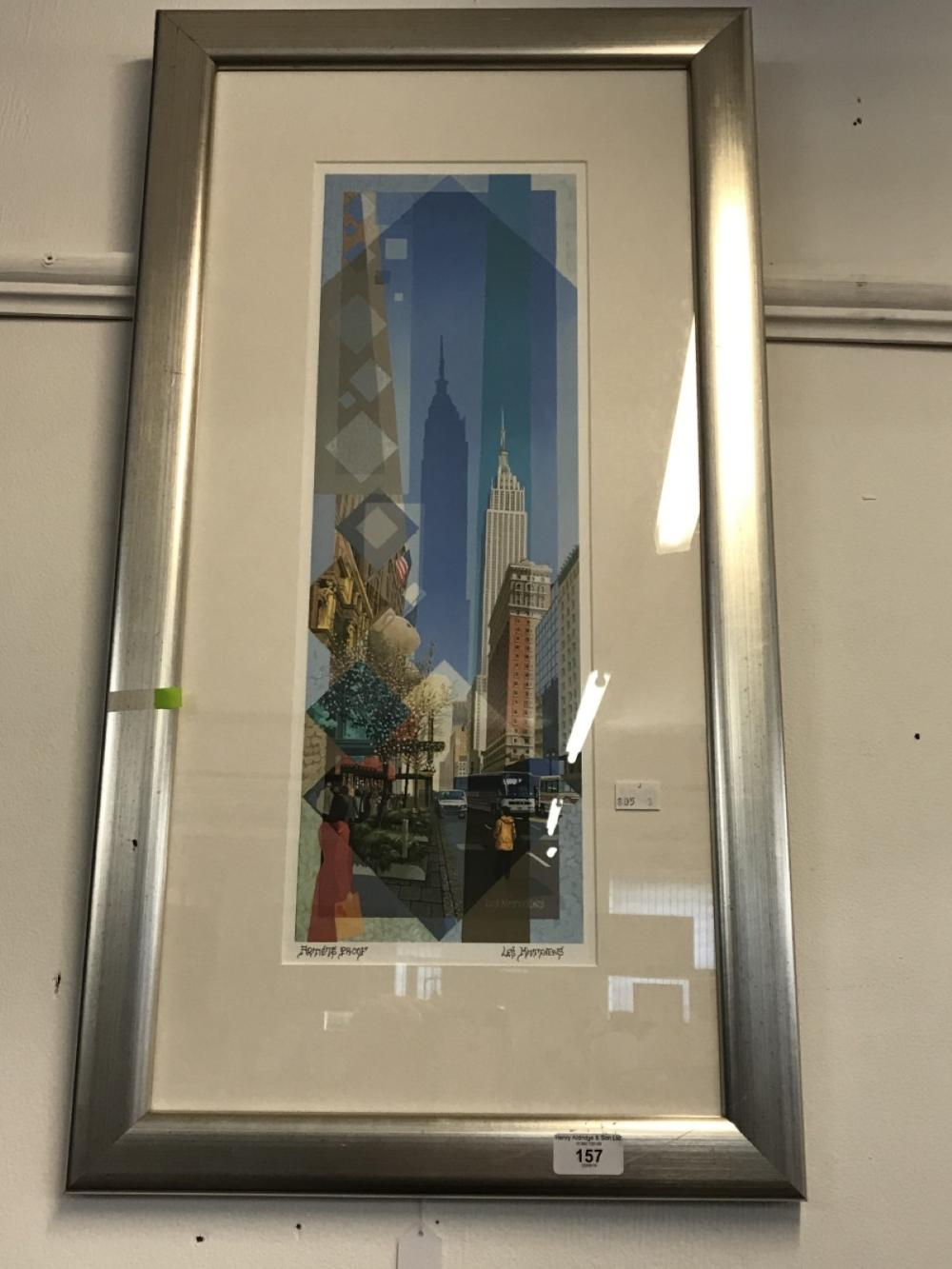 Les Matthews: 20th cent. Artists proof, limited edition print on paper of the Empire State Building.