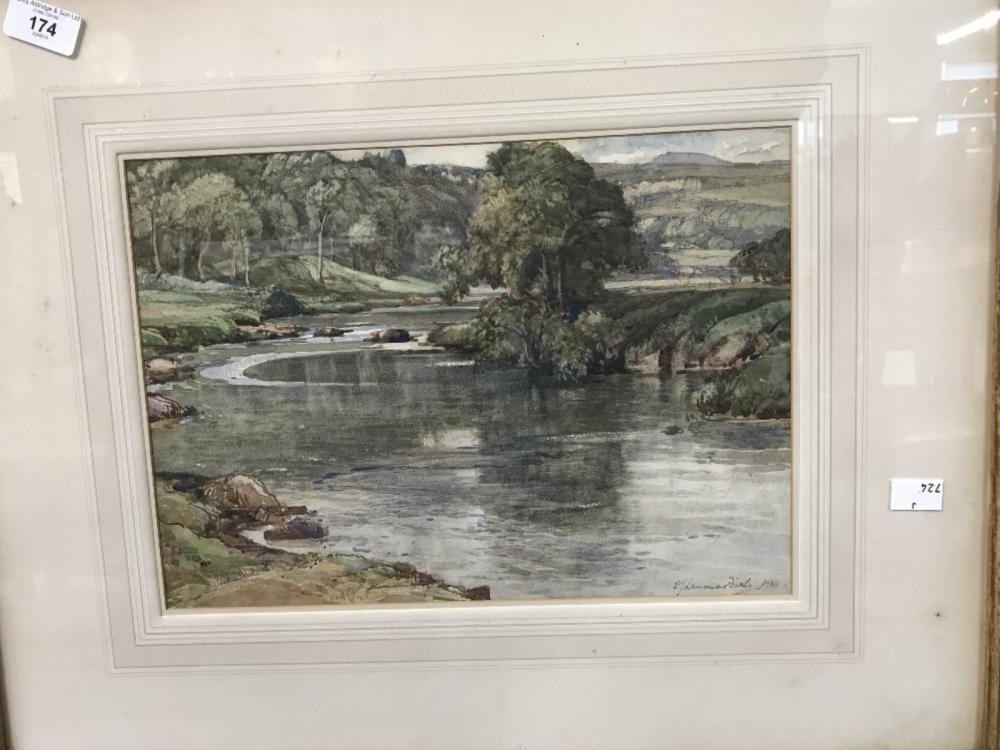 "Samuel John Lamorna Birch 1869-1955: Watercolour ""The Island Pool, Cornishaugh"", label on verso R.S."