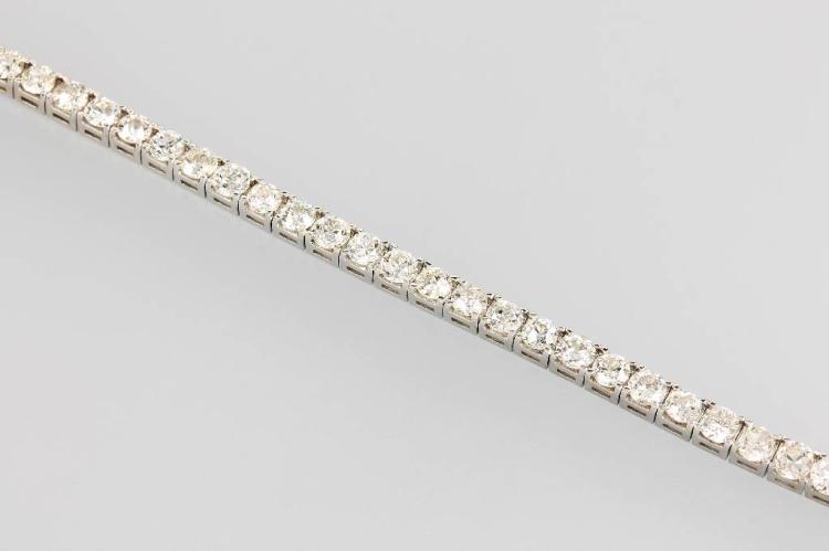 14 kt gold riviere bracelet with brilliants