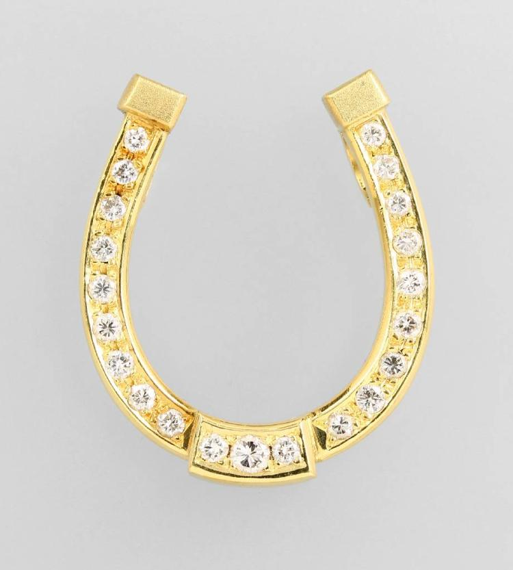 18 kt gold pendant 'horseshoe' with brilliants
