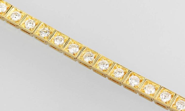 18 kt gold riviere bracelet with brilliants