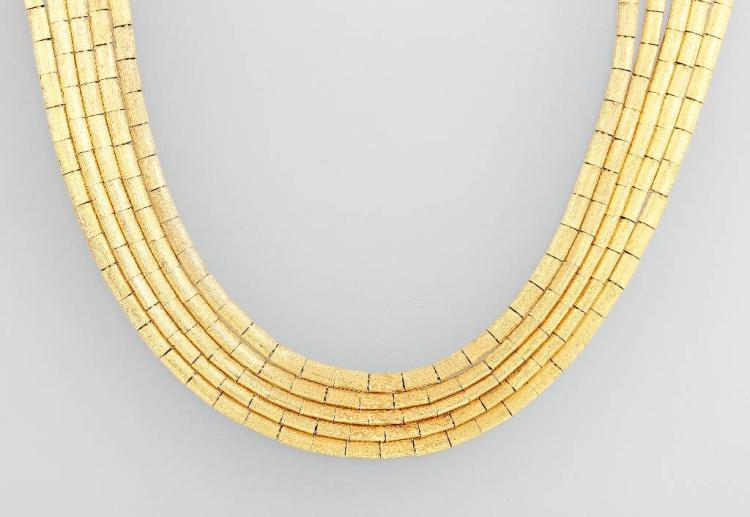 5-row 18 kt gold necklace