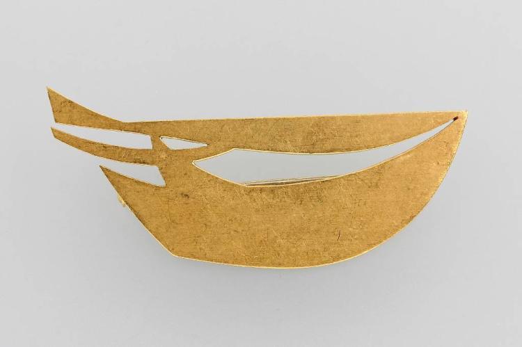 18 kt gold designer brooch
