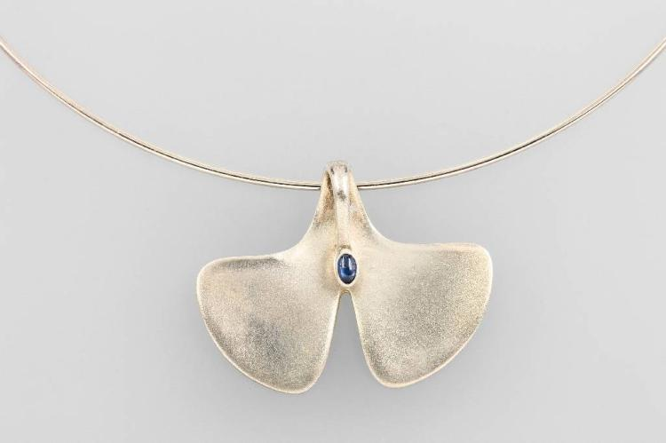 Pendant and circlet 'Ginkgo' by PAUL WUNDERLICH