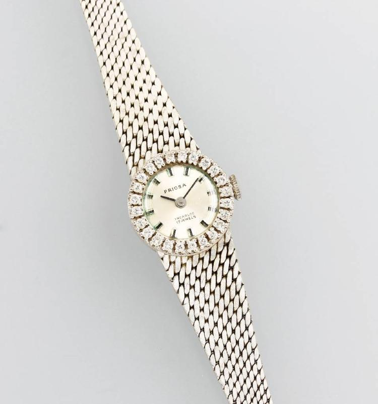 14 kt gold ladies' wristwatch with brilliants