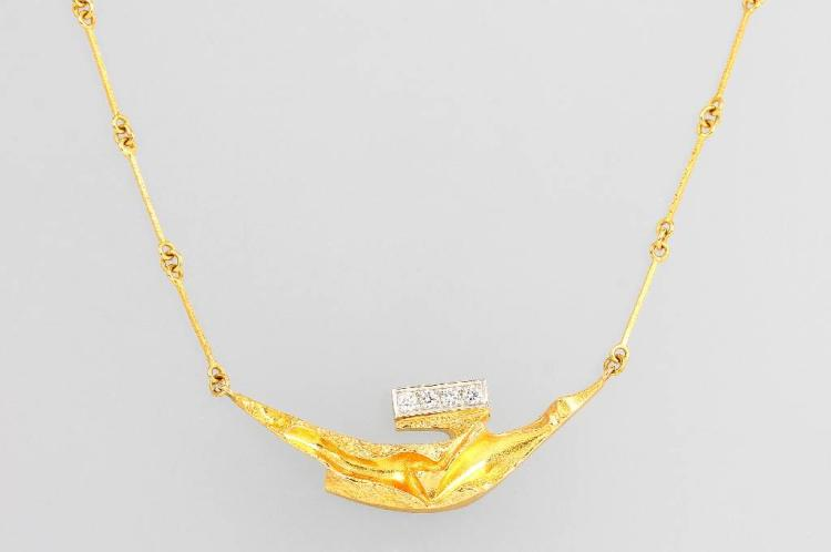 18 kt gold necklace with diamonds by LAPPONIA