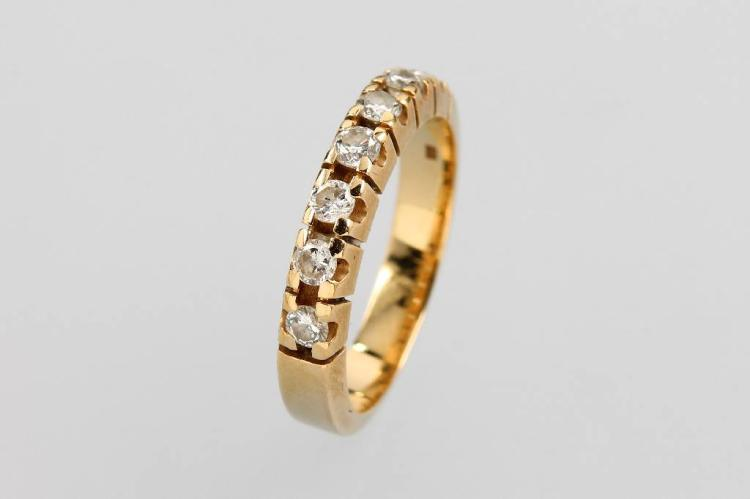14 kt gold halfmemory ring with brilliants