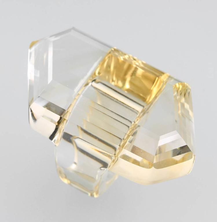 Ring made of citrine