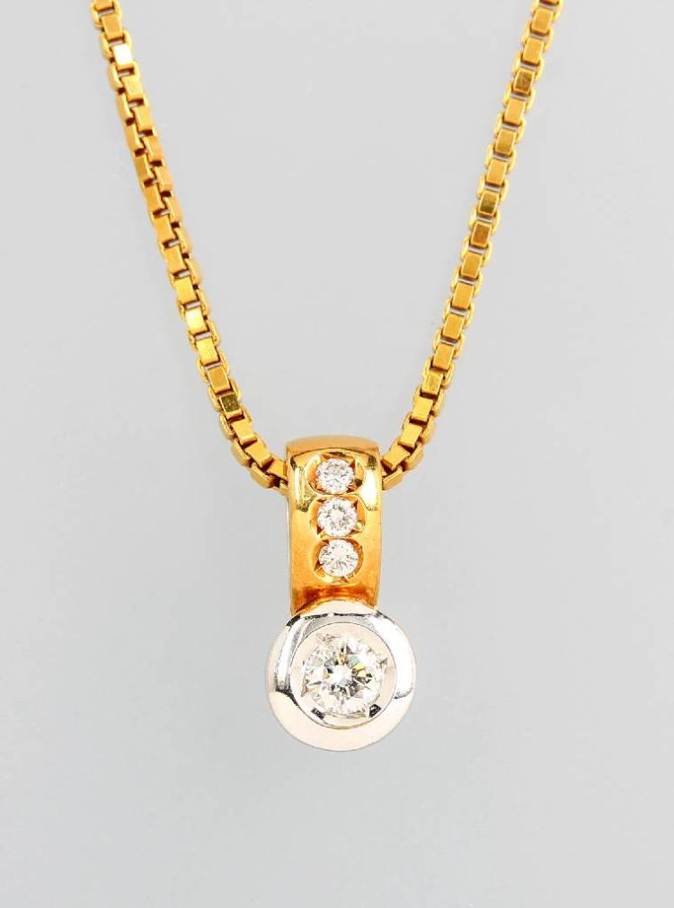 18 kt gold pendant with diamonds