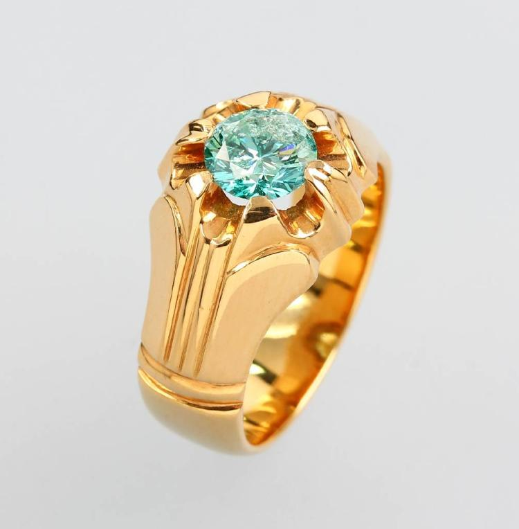 18 kt gold ring with brilliant