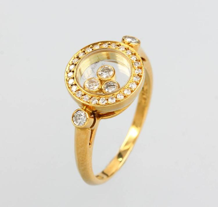 18 kt gold ring with brilliants by CHOPARD