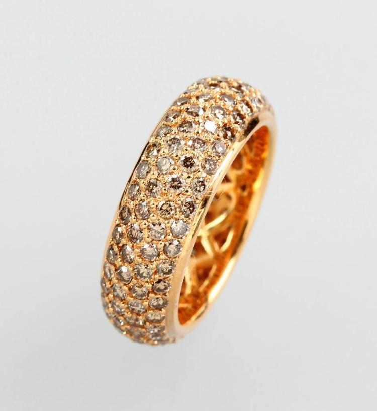 18 kt gold memoryring with brilliants