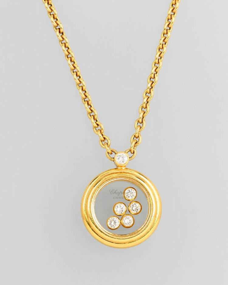 18 kt gold necklace with brilliants by CHOPARD