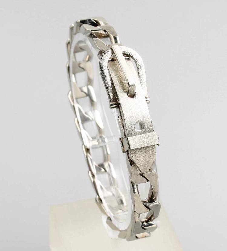 Platinum bracelet 'Belt'