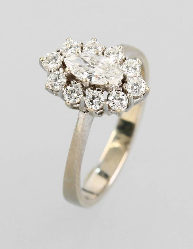 14 kt ring with diamonds