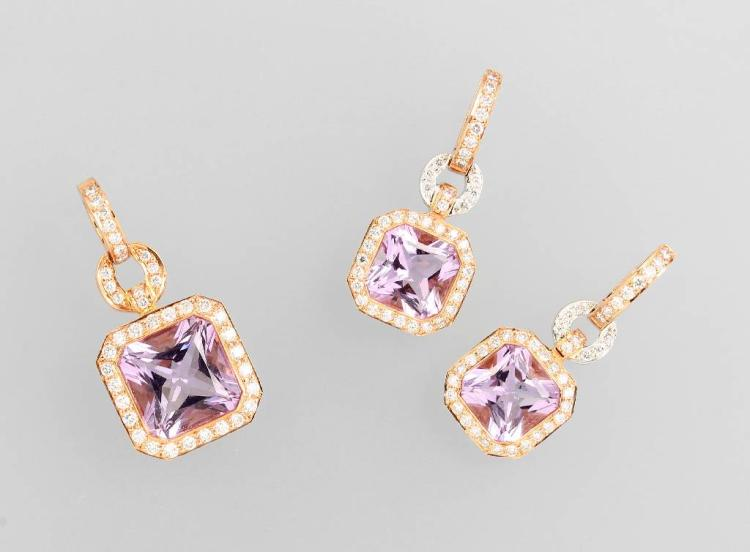 18 kt gold jewelry set