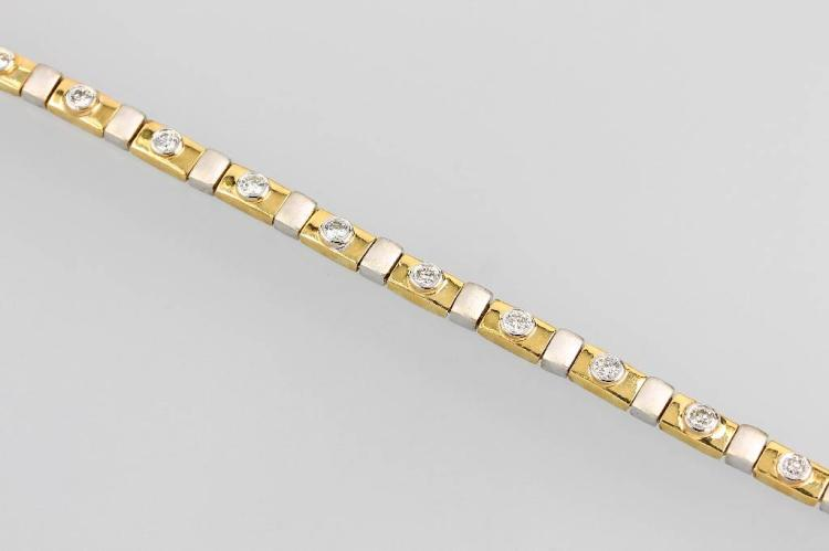 14 kt gold bracelet with brilliants