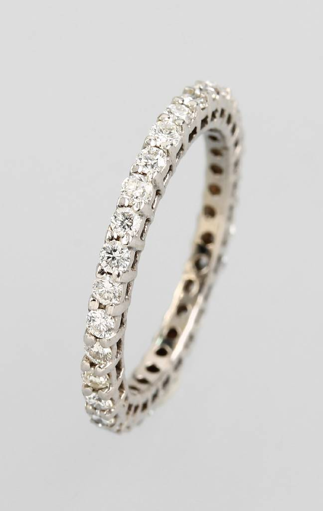 14 kt gold memoryring with brilliants