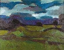 Gernot Kissel, 1939-2008, landscape, oil/canvas