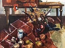 Bruno Müller-Linow, 1909-1997, watercolor, still