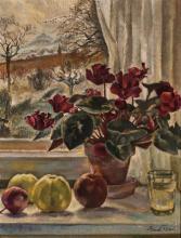 Gustav Rossi, modern painter, flower still life