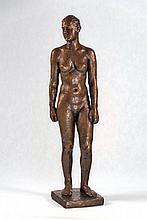 Georg Kolbe, 1877-1947, Young girl, bronze sculpture