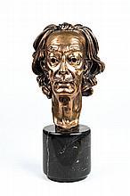 Arno Breker, 1900-1991, Dali-head, bronze sculpture