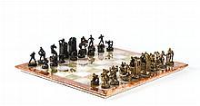 Igor von Jakimow, 1885-1962, chess with 32 bronze-chess