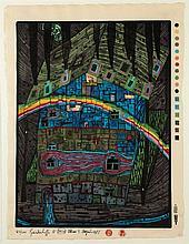 Friedensreich Hundertwasser, 1928-2000, river under the