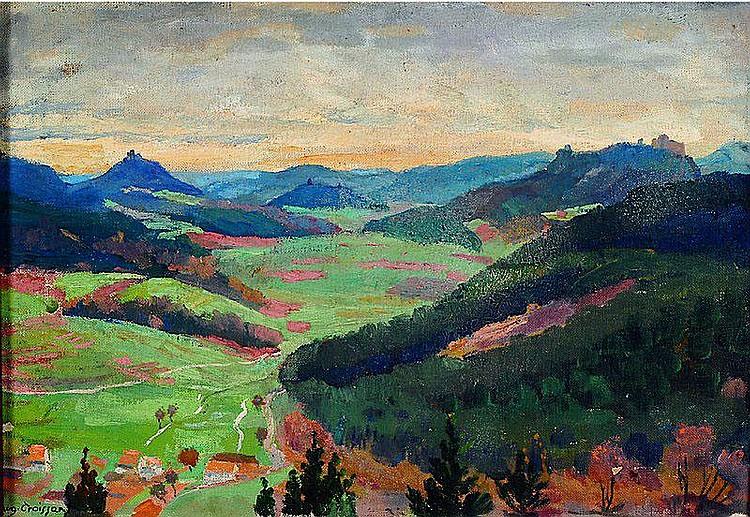Croissant, August, 1870-1941 Landau, Landschaft