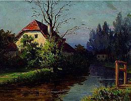 Schmidt, Alfred, 1867 Dresden - 1960, Studium an