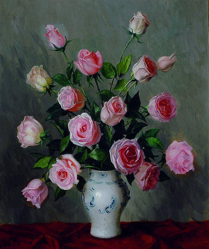 Jost, Joseph, 1888 Wien - Südtirol, Rosen in