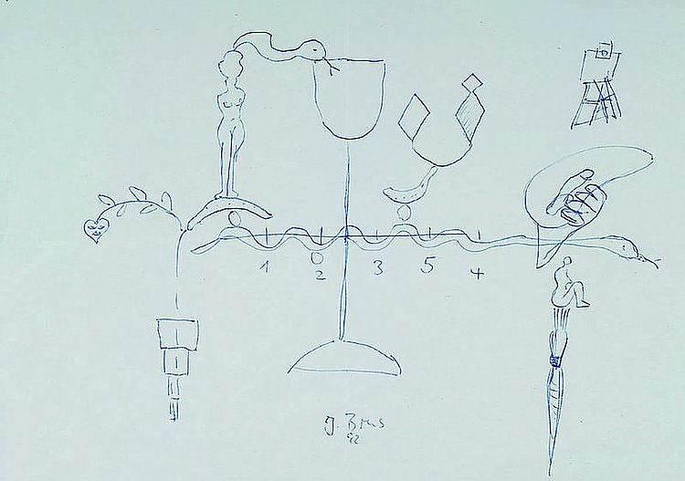 Brus, Johannes, geb. 1942, Zeichnung, handsign.