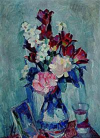 Zikmund, Frantisek, 1893-1955, Blumen in blauer