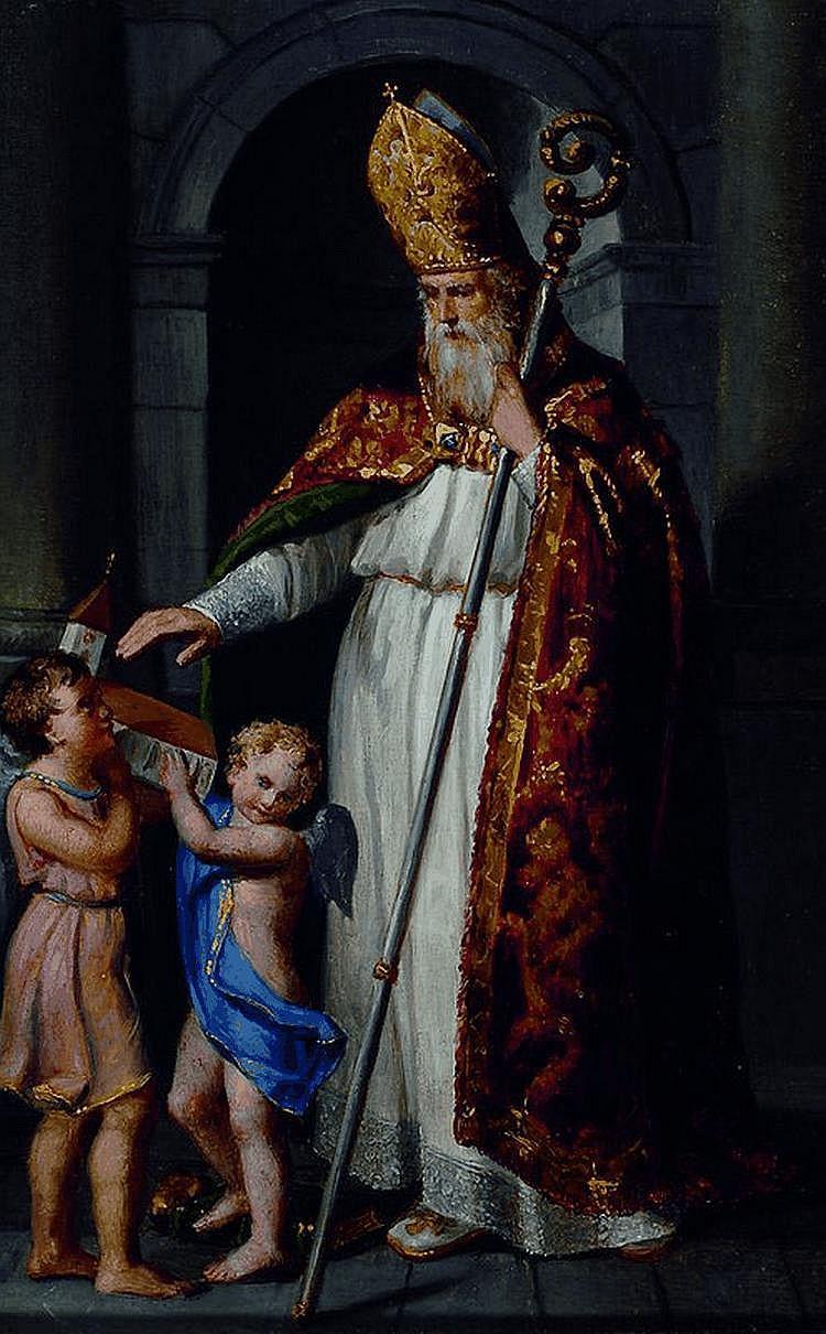 Ellenrieder, Maria, 1791-1863, Bischof segnet eine