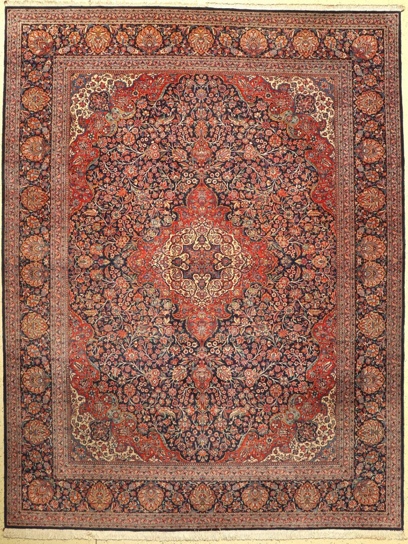 Feiner Kork Kashan, Persia, um 1940, wool on cotton