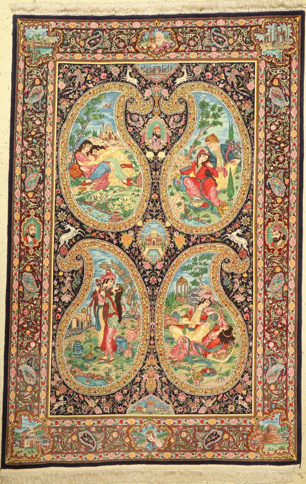 Rare fine Tabriz, (60 Raj), Persia, around 1950, wool