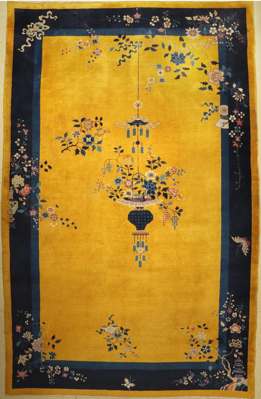 Rare yellow ground antique Peking, China, around 1900