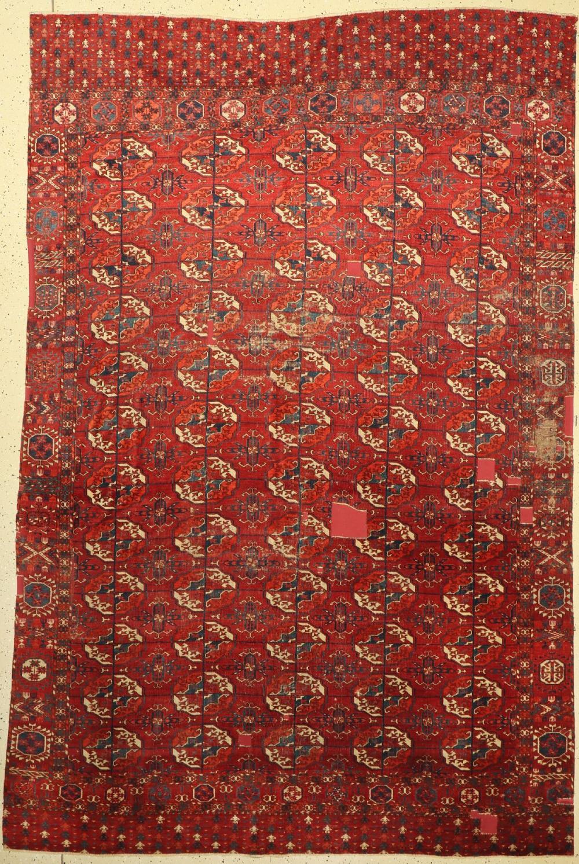 Early fine Tekke main carpet, Turkmenistan, early 19th