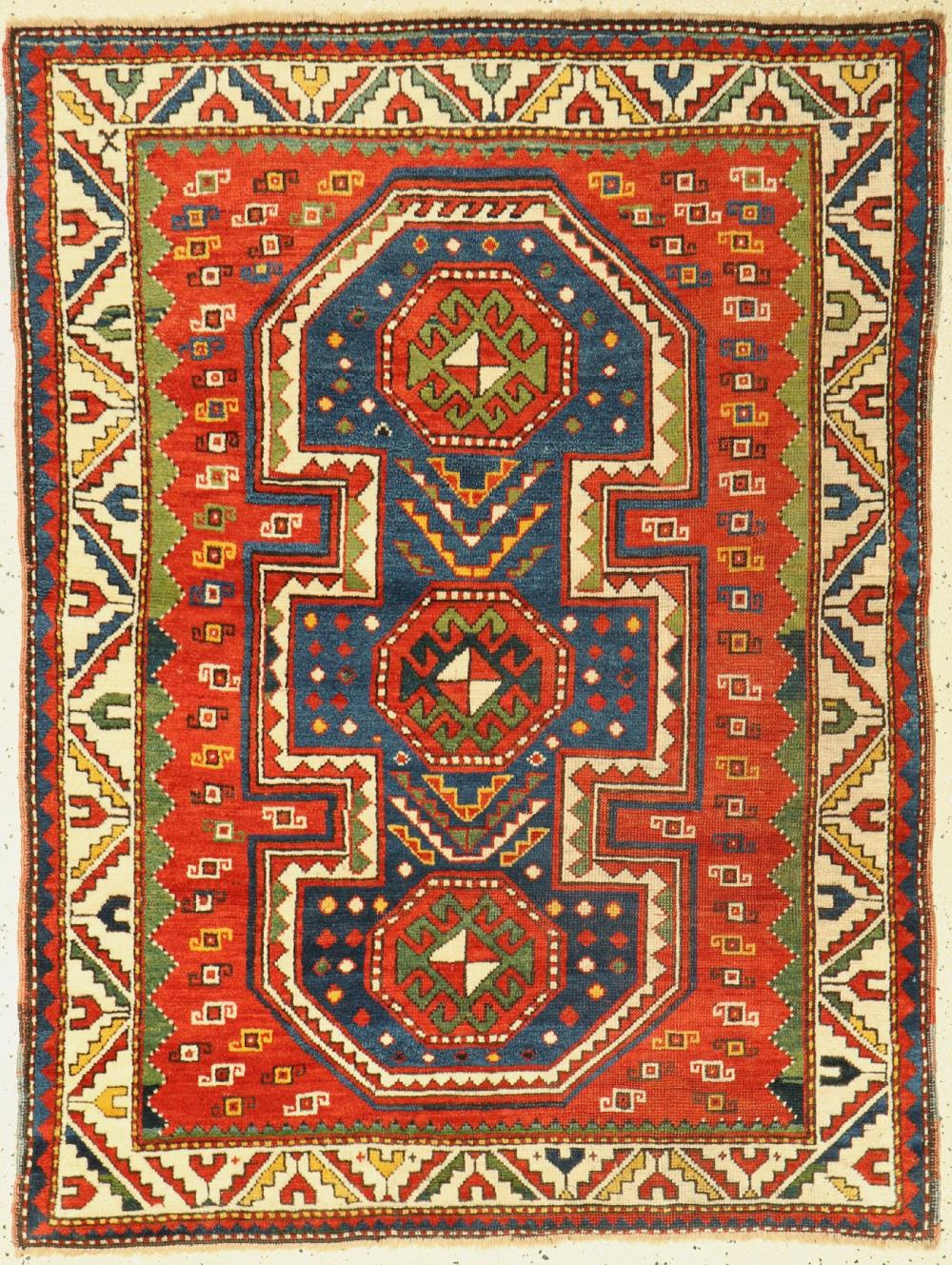 Antique Schildkazak, Caucasus, around 1900, wool knotted