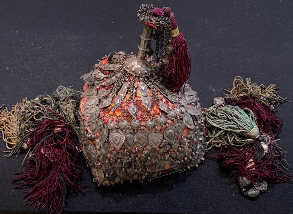 Turkmen girl's hat (gupba) with hanger