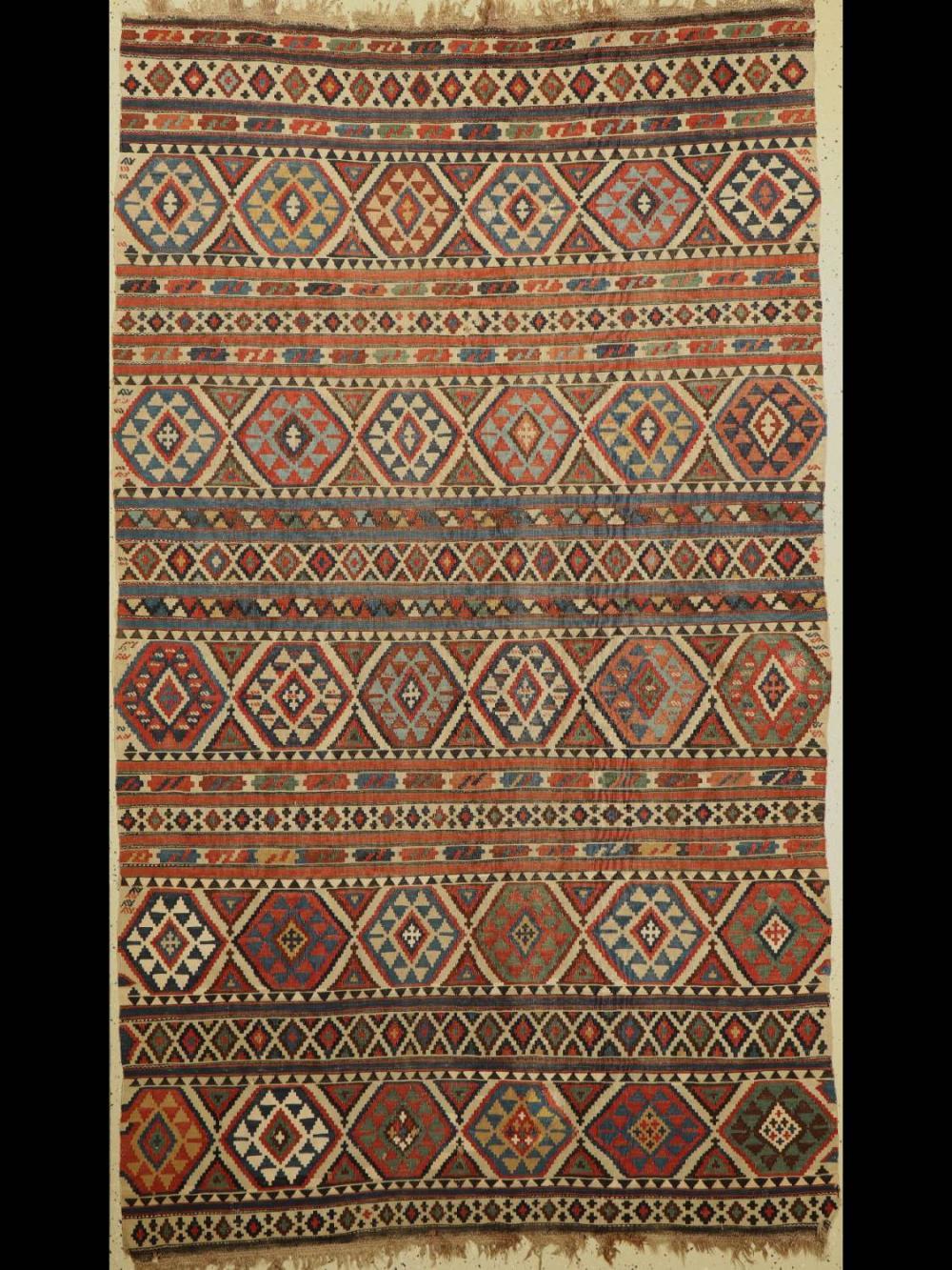 Antique Shirvan Kilim, Caucasus, 19th century,wool woven