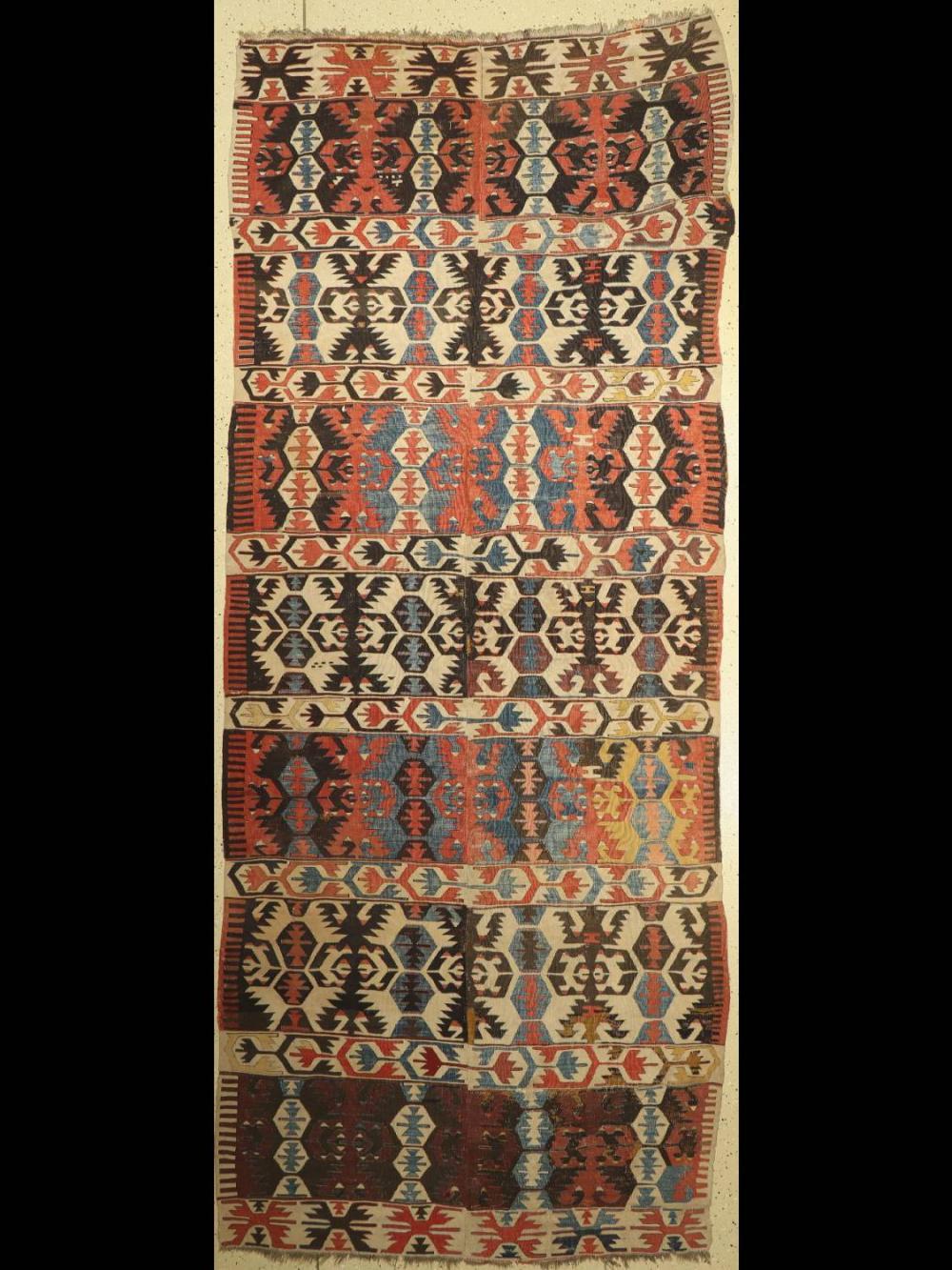 Antique Anatol Kilim, Turkey, around 1900, wool woven