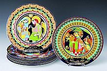 8 Christmas plates, Rosenthal, design Bjorn