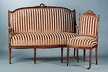 Sitzgarnitur, Frankreich, um 1890, bestehendaus: