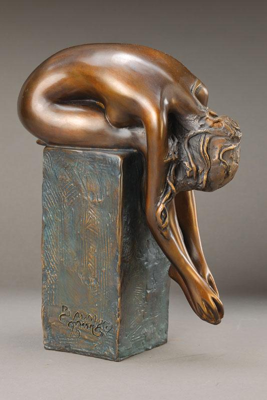 Bruno Bruni, born 1935 Gradara, La Spina, bronze
