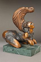 Ernst Fuchs, 1930-2015, Sphinx, bronze sculpture