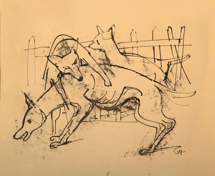 Karl Hofer, 1878-1995, drawing, pen/ink