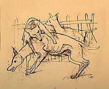 Karl Hofer, 1878-1995, drawing, pen/ink